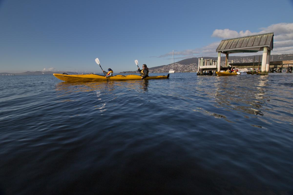 Roaring 40s Kayaking - A long weekend in Hobart - Hobart city kayaking tour