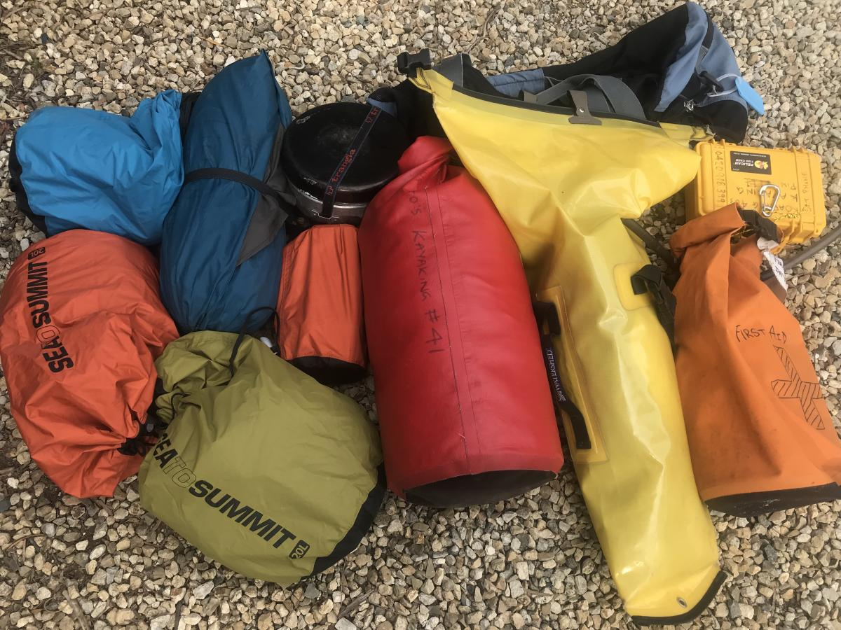Roaring 40s Kayaking Blog - Reg's Trips on Dry Bags