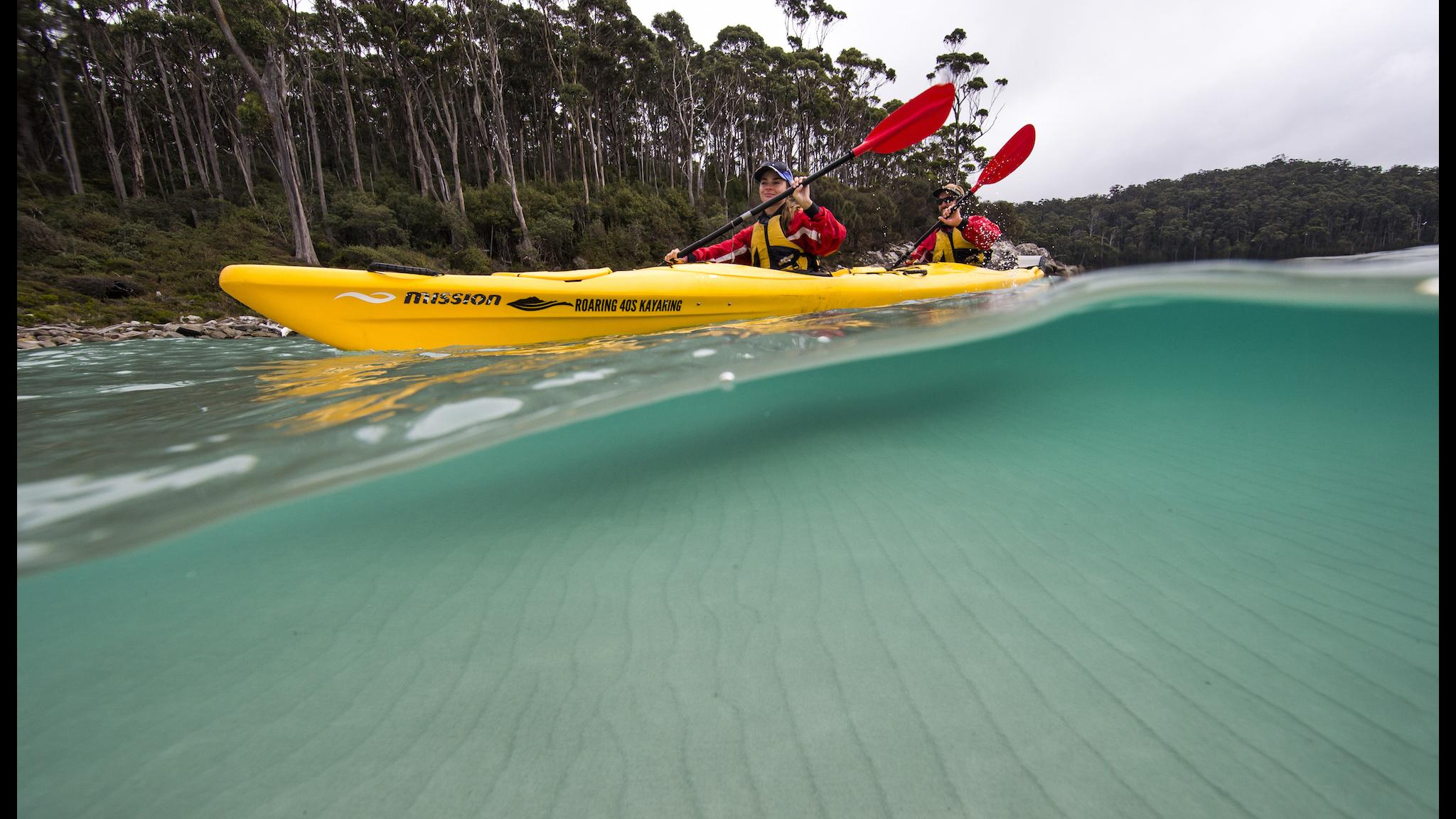 Roaring 40s Kayaking - Kayaking at Port Arthur, Tasman Peninsula, Tasmania