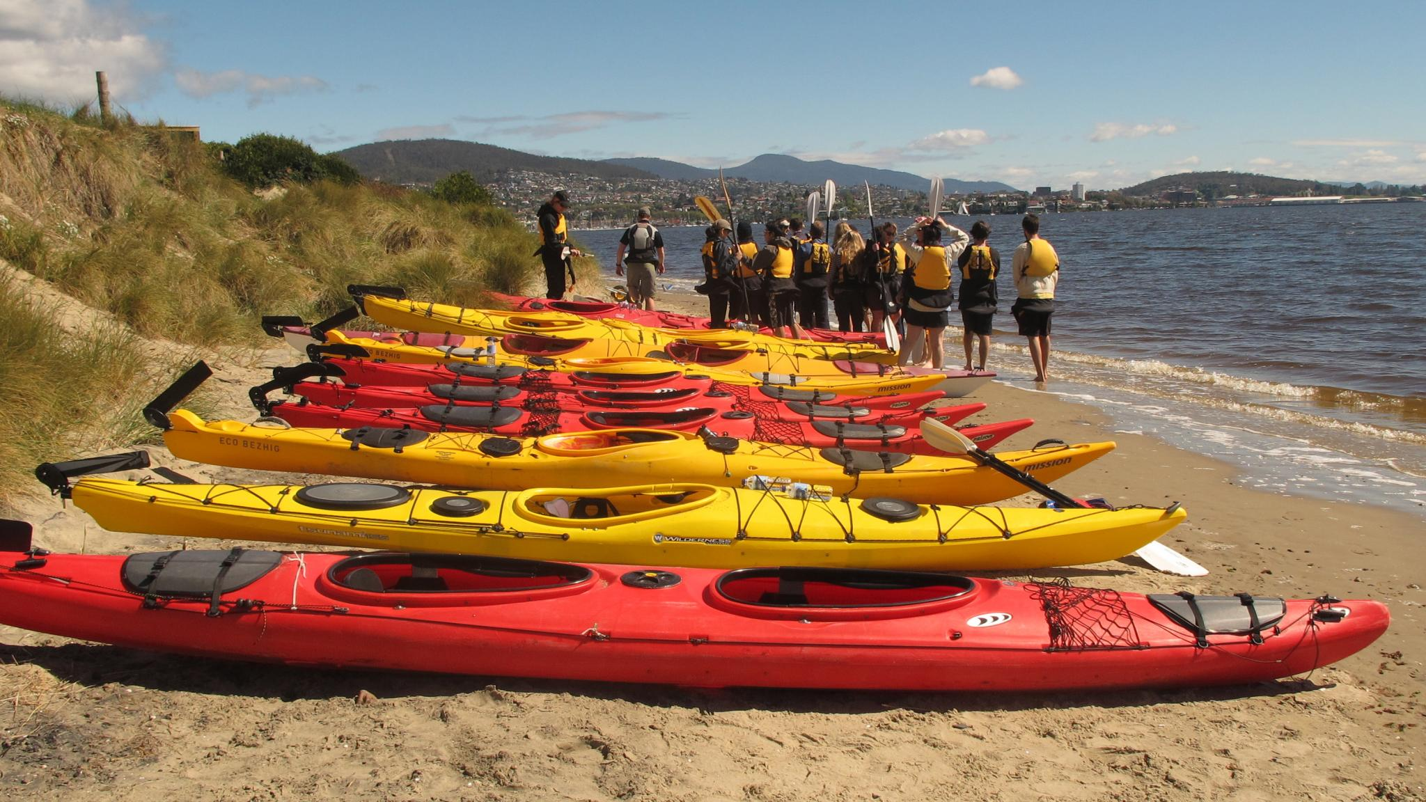 Roaring 40ºs Kayaking - Sea kayaking group adventure activity, Hobart, Tasmania