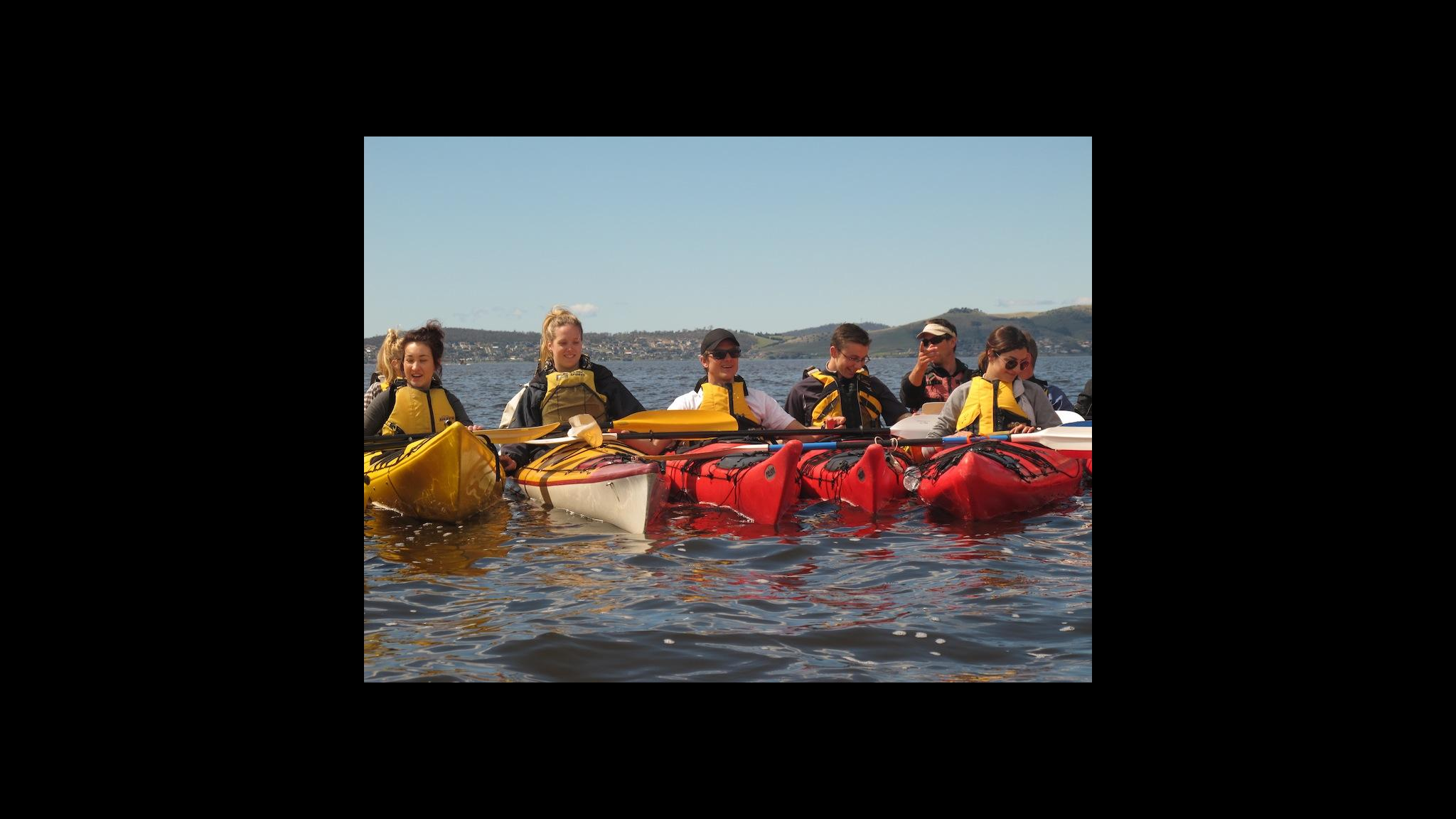 Roaring 40ºs Kayaking - Group adventure activity kayaking - Hobart, Tasmania