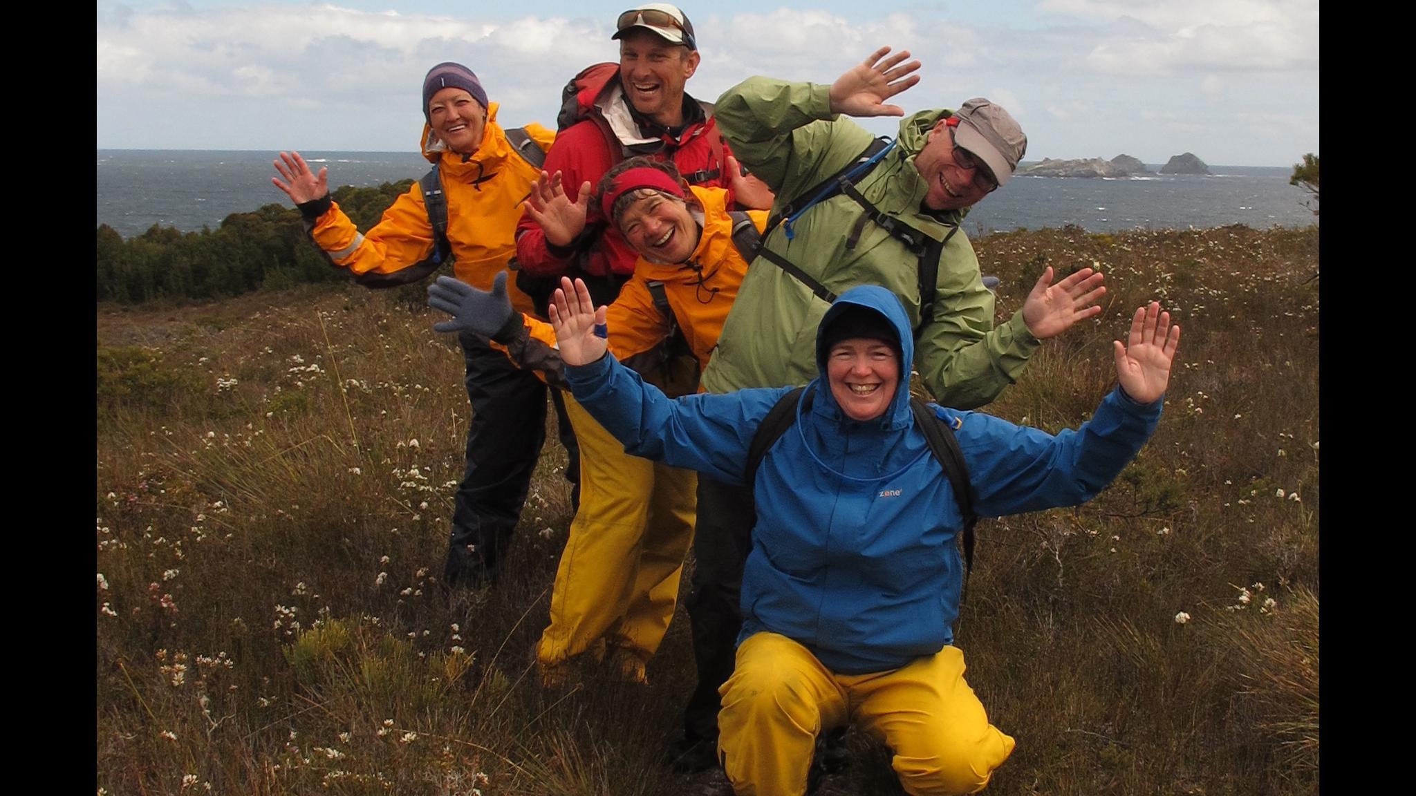 Roaring 40s Kayaking - Bushwalking tours walking on Mt Beattie, Southwest Tasmania