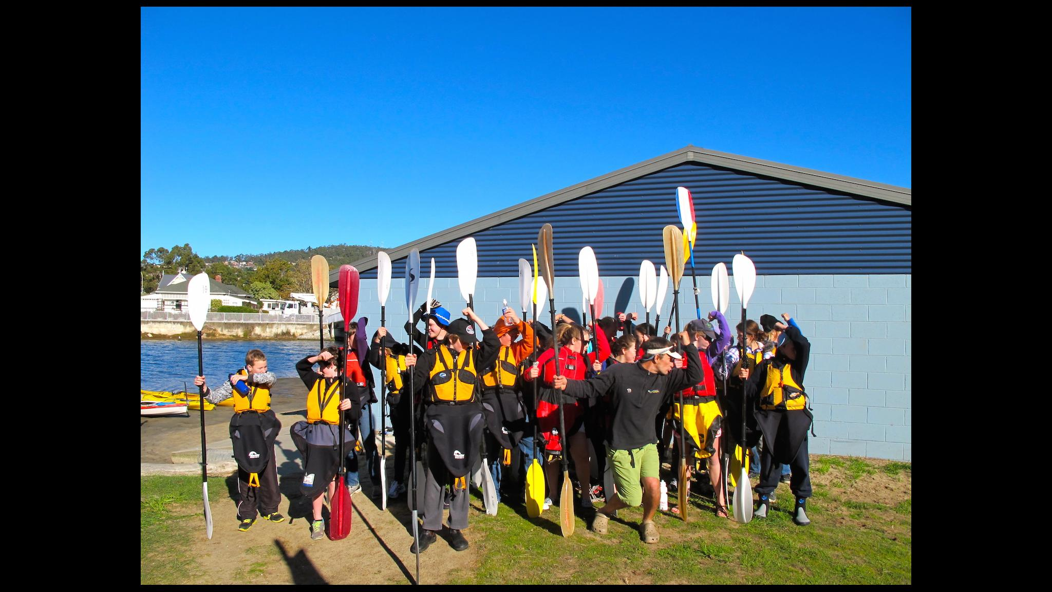 Roaring 40ºs Kayaking - Large school group kayaking in Hobart, Tasmania