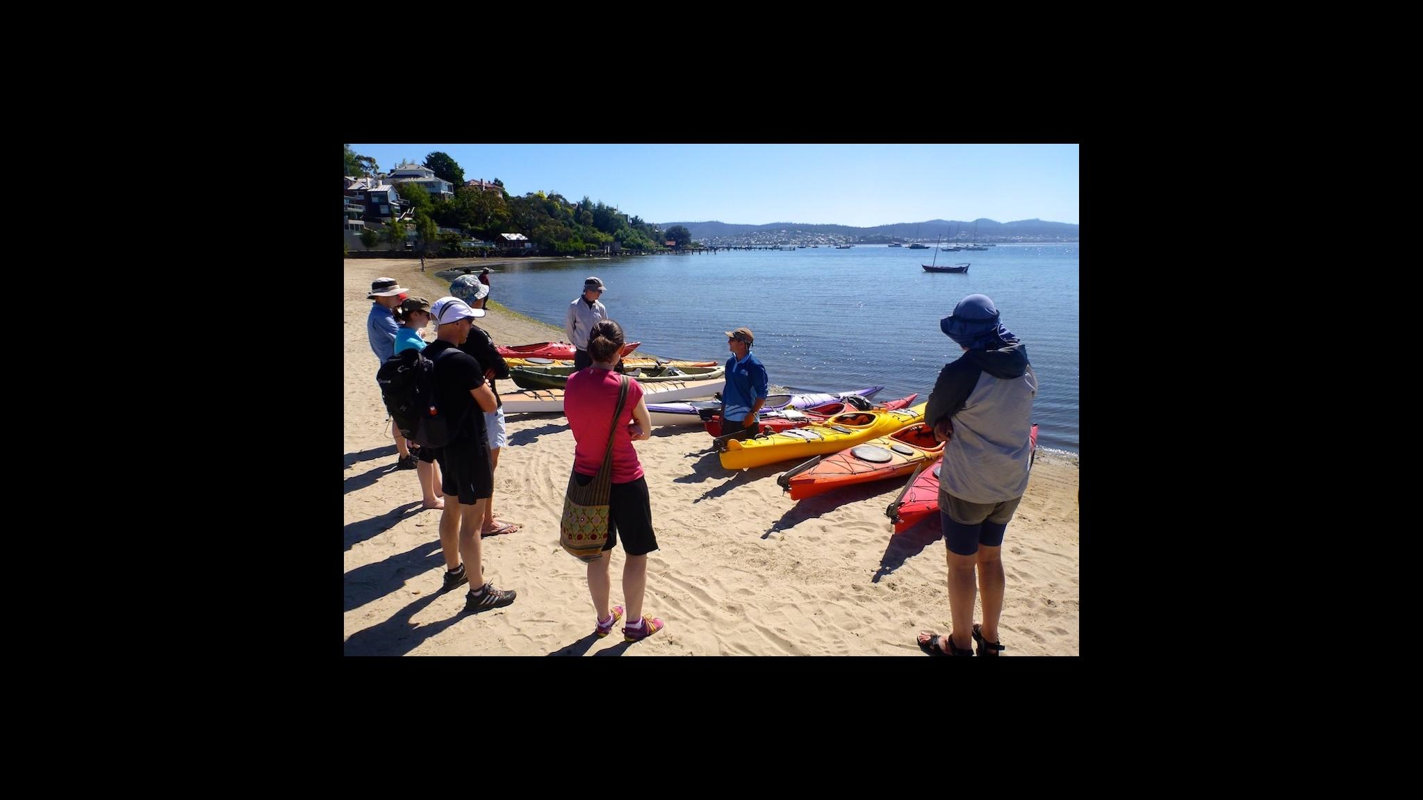 Roaring 40s Kayaking - Learning basics of sea kayaking Hobart Tasmania
