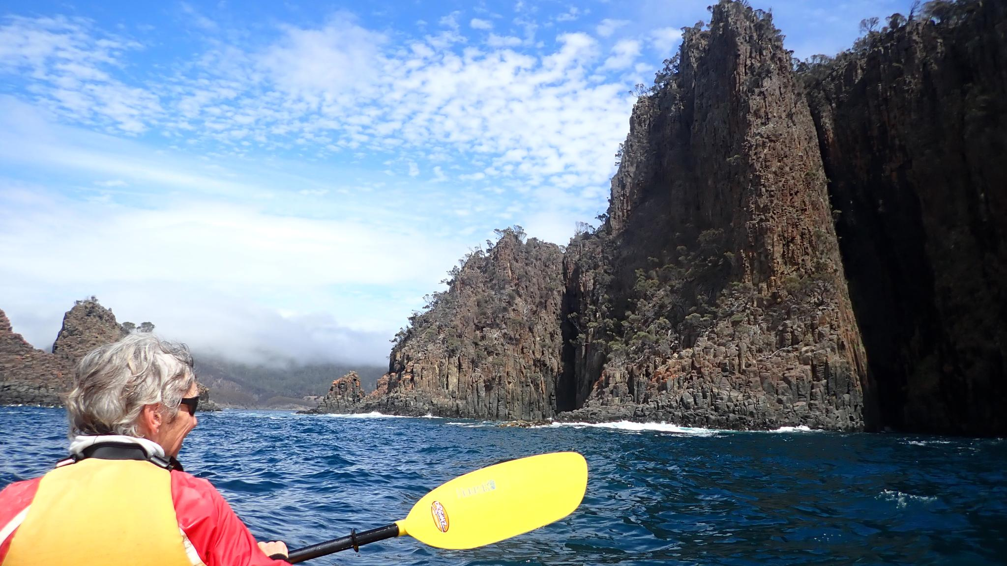 Multiday tour kayaking on the Tasman Peninsula, Hobart, Tasmania