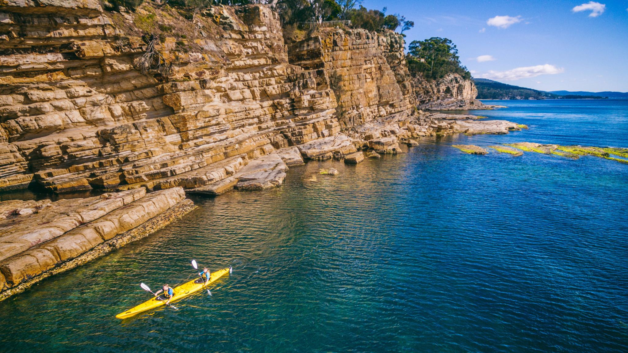 Roaring 40s Kayaking - Kayaking Hobart's Cliffs, Caves and Beaches - Best Adventure Tour in Tasmania