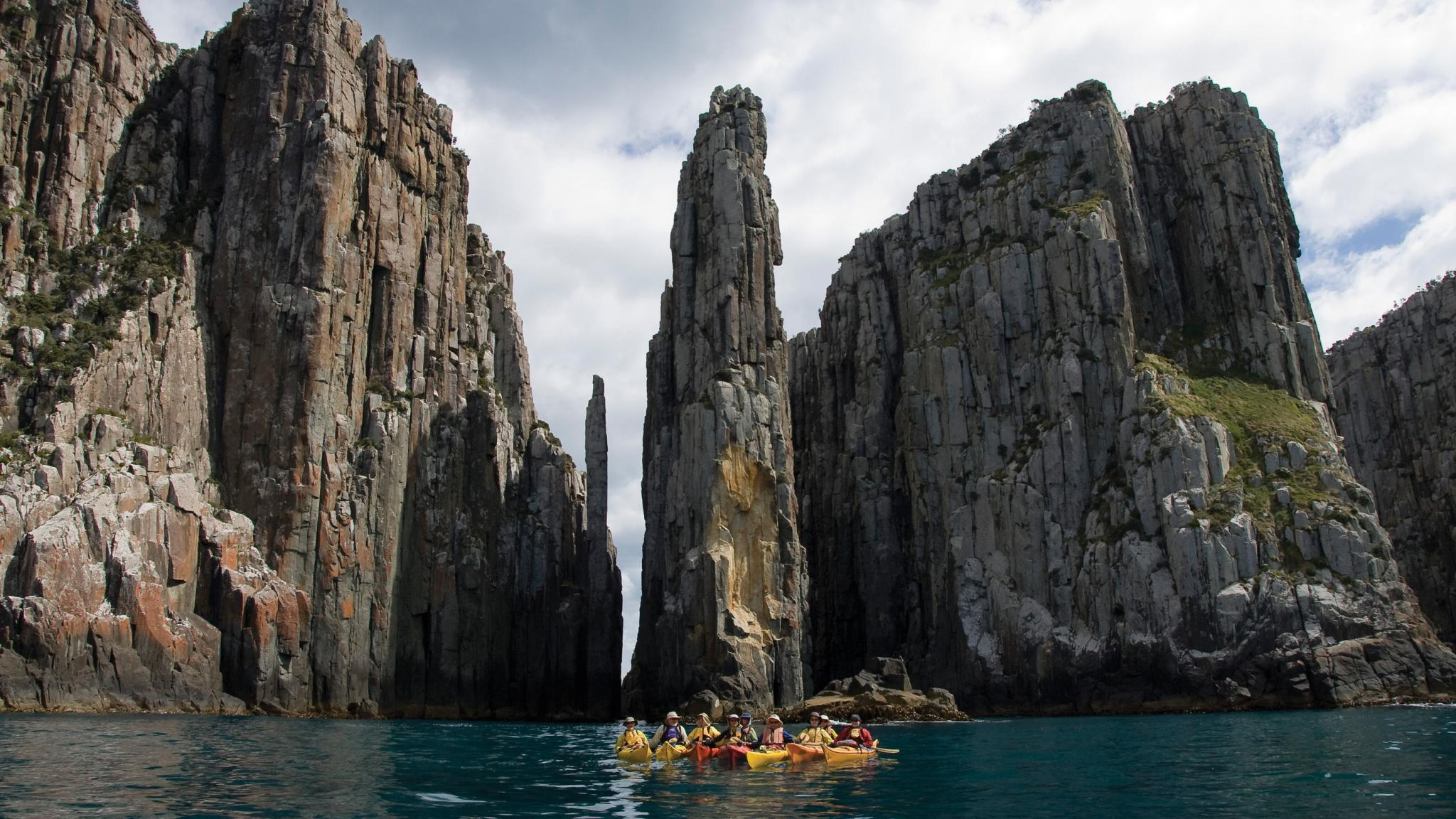 Multiday kayaking tour on the Tasman Peninsula, Hobart, Tasmania