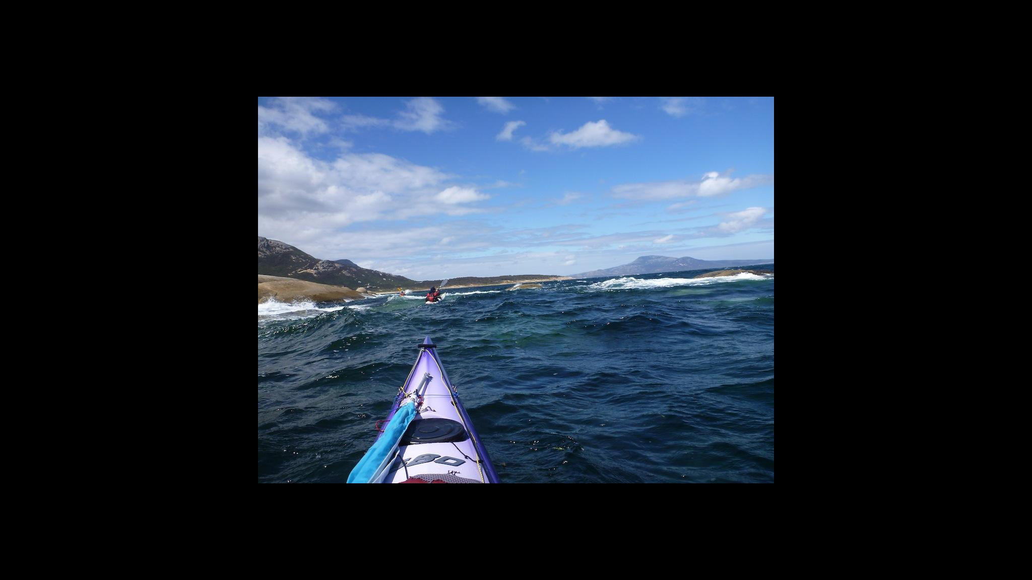 Roaring 40s Kayaking - Learn to sea kayak in waves Hobart Tasmania