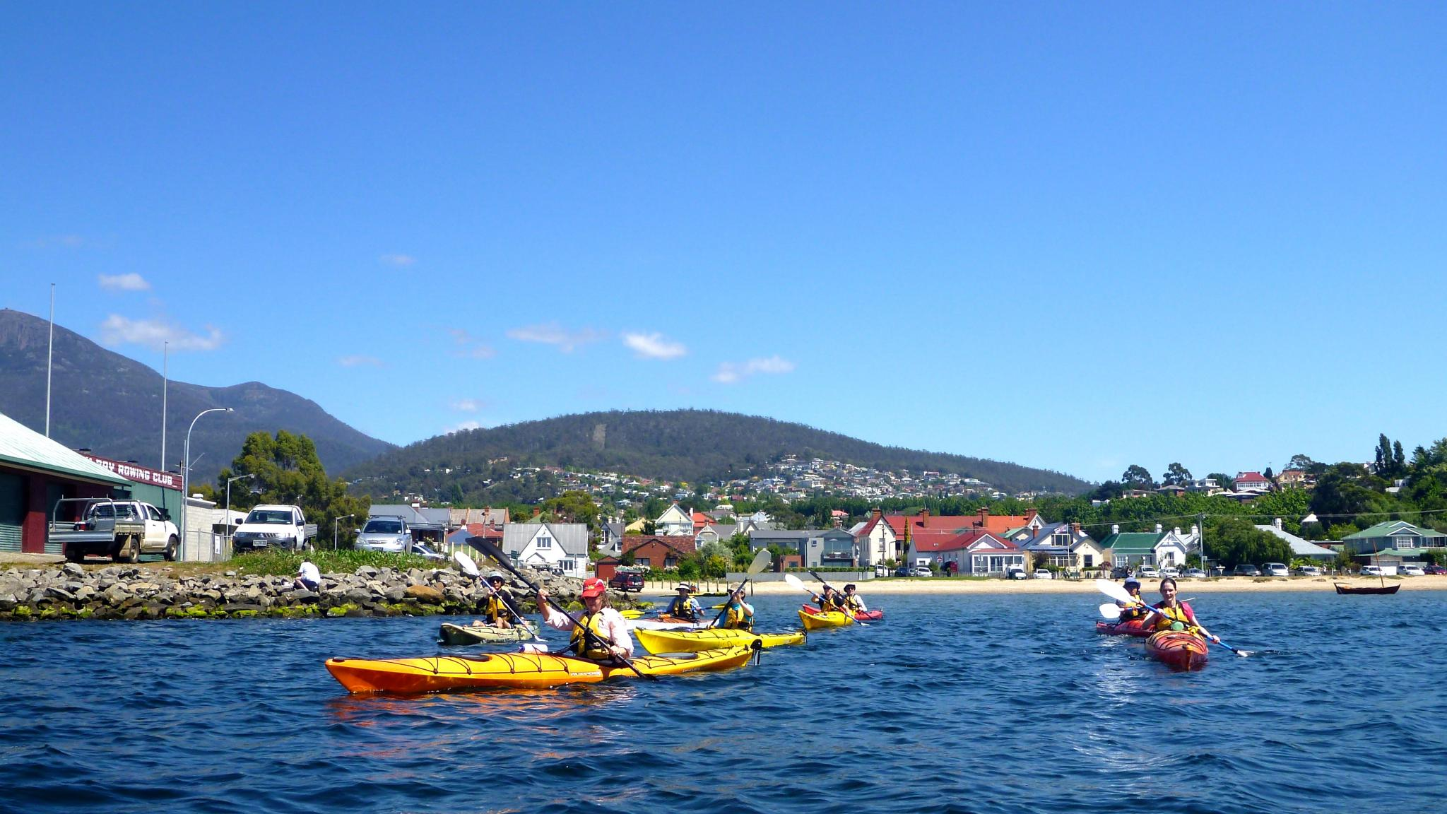 Roaring 40s Kayaking - Learning to Sea Kayak lessons Sandy Bay Tasmania