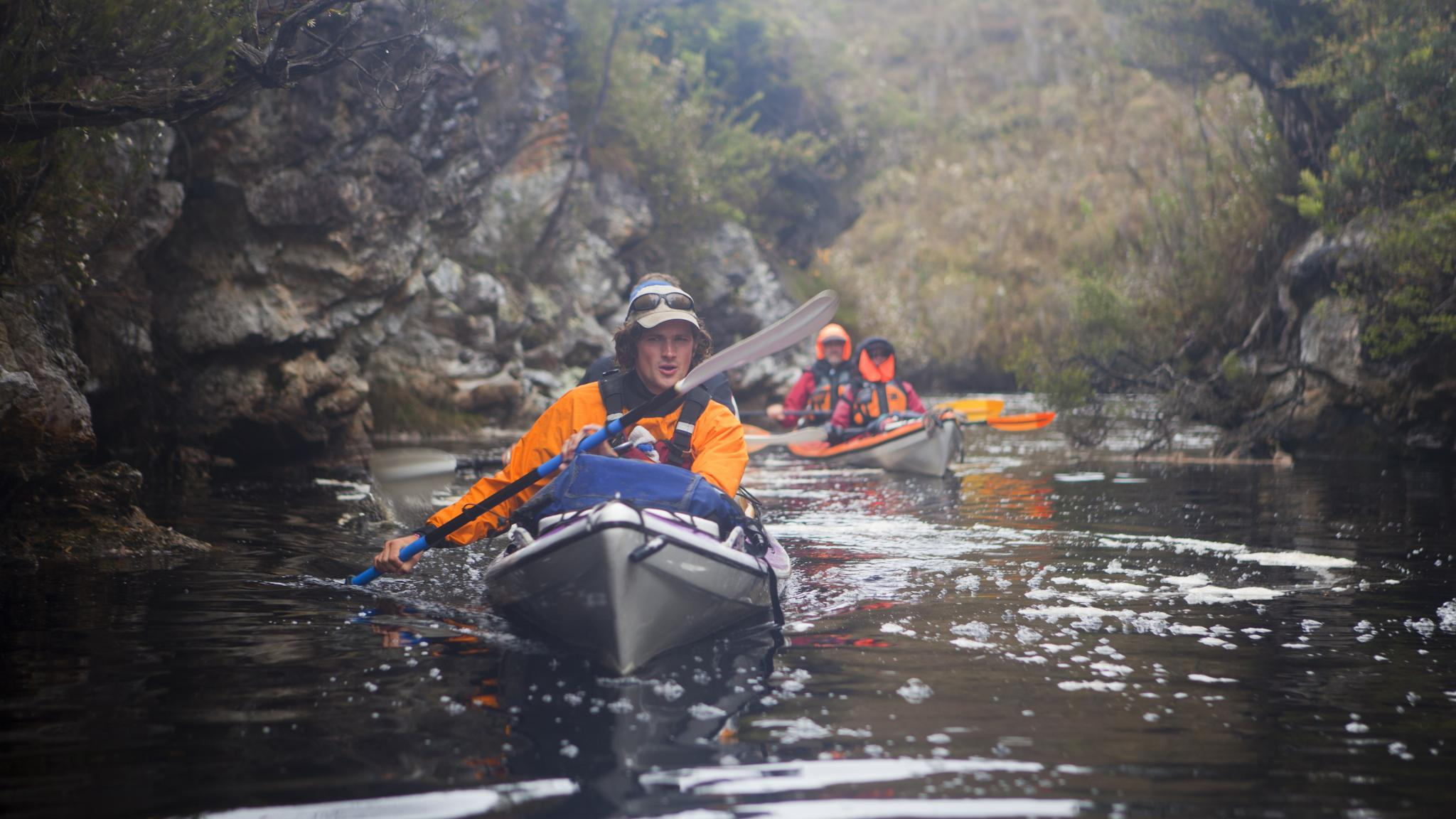 Kayaking Davey Gorge Port Davey Southwest Tasmania