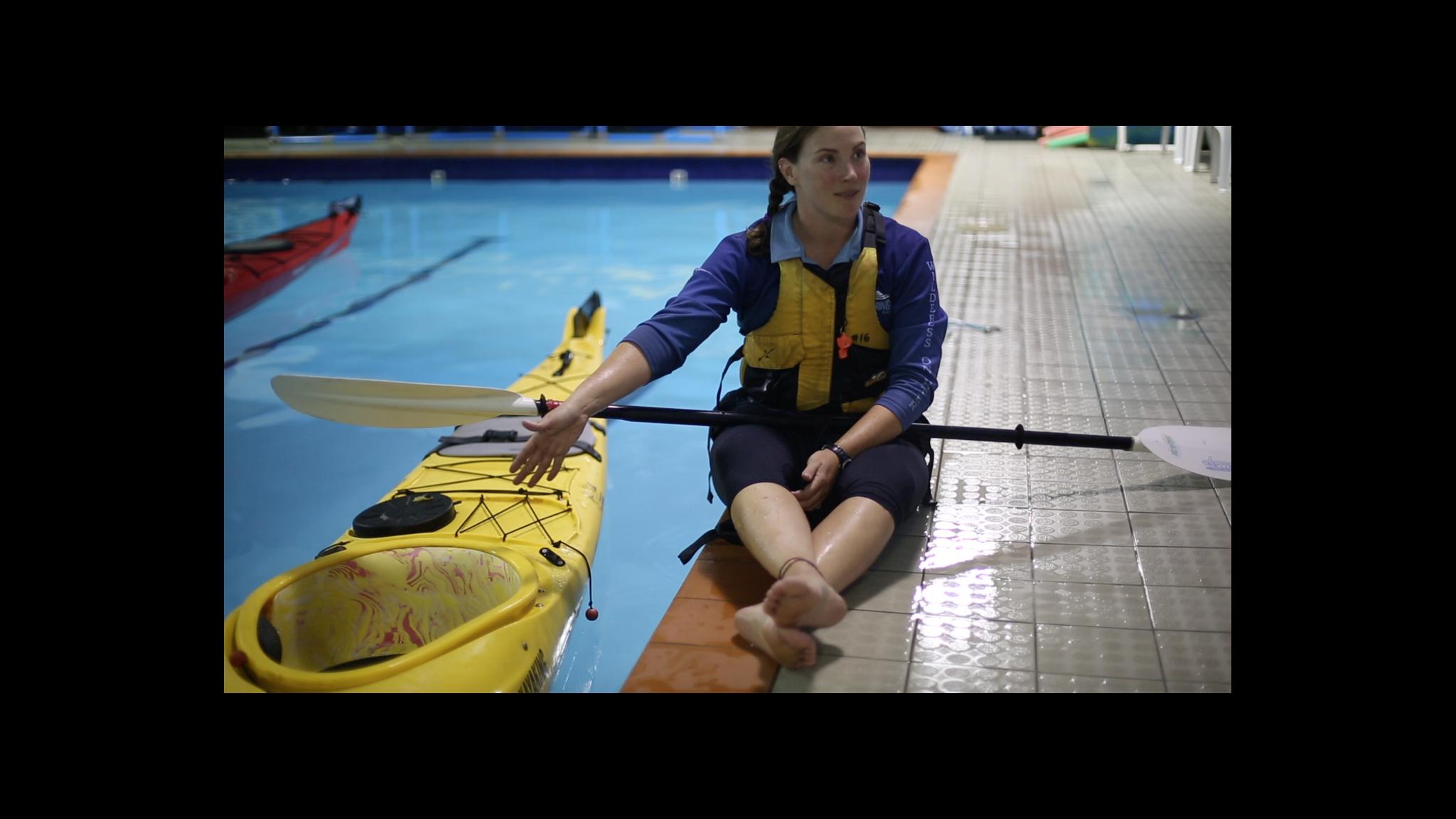 Roaring 40s Kayaking - Leaning kayak rescue skills Hobart Tasmania
