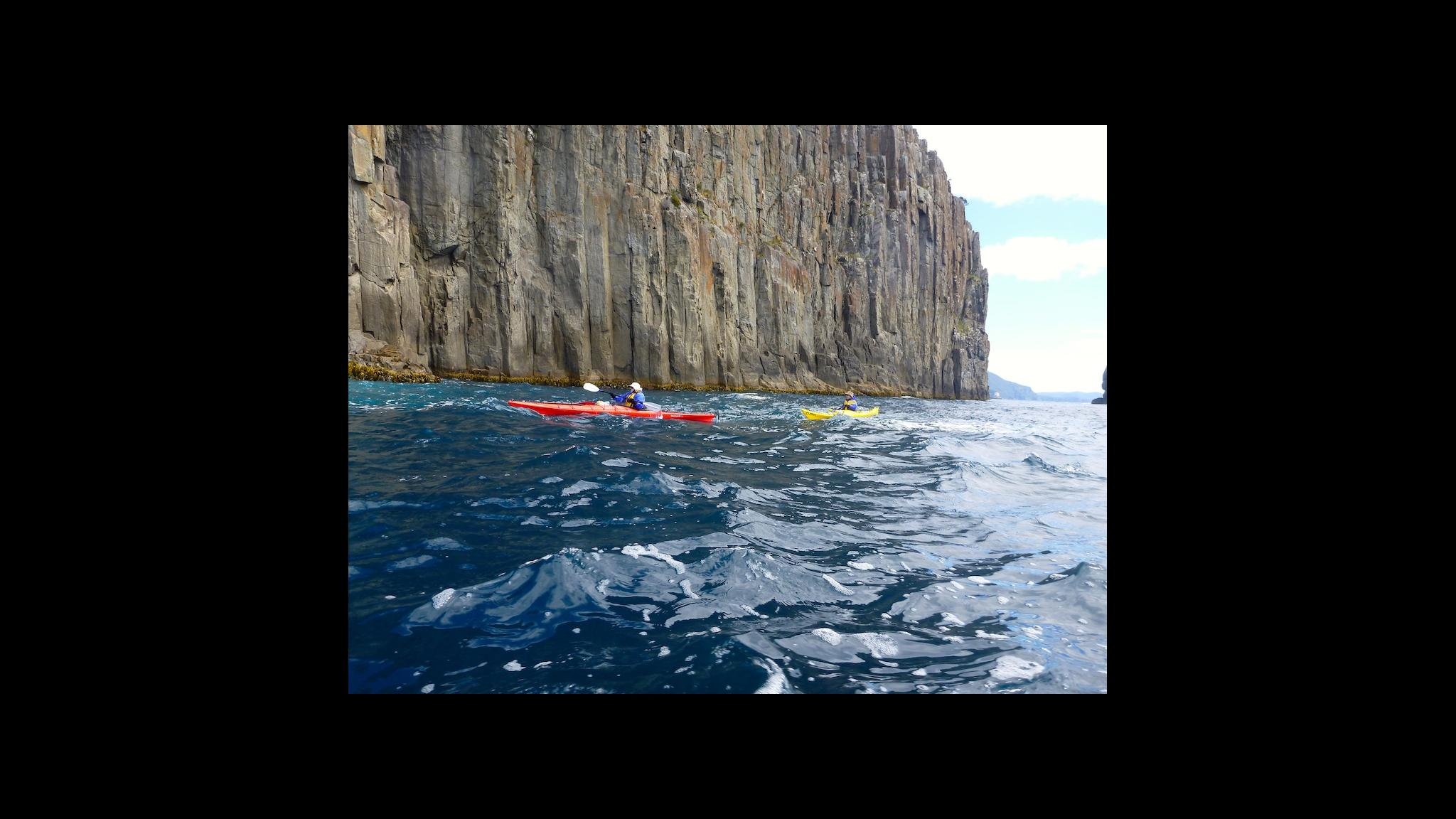 Roaring 40s Kayaking - Advanced sea kayaking skills lessons near cliffs Hobart Tasmania