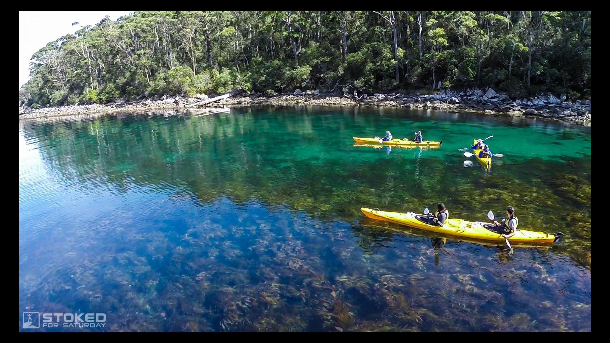 Roaring 40s Kayaking - Best Adventure tour in Tasmania - kayaking on Tasman Peninsula
